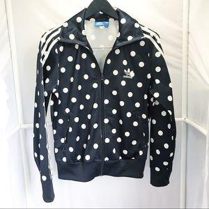 Adidas Polka Dot Track Jacket Women's Size Medium